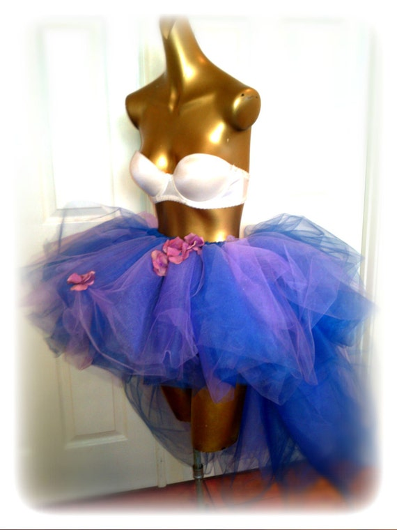 Adult Tutu High Low Tutu Skirt Lavender Blue Fairy Tutu