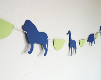 Safari Animals / Zoo themed Paper Garland 5 ft.