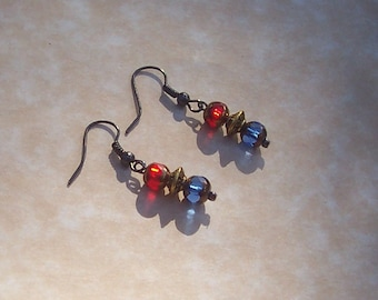 Anglo-Saxon Earrings - Sutton Hoo Inspired Jewelry - Anglo-Saxon Jewelry - Medieval