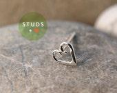 CARTILAGE heart sterling silver/ cartilage earring tragus gold tragus earring cartilage gold cartilage ring nose studs