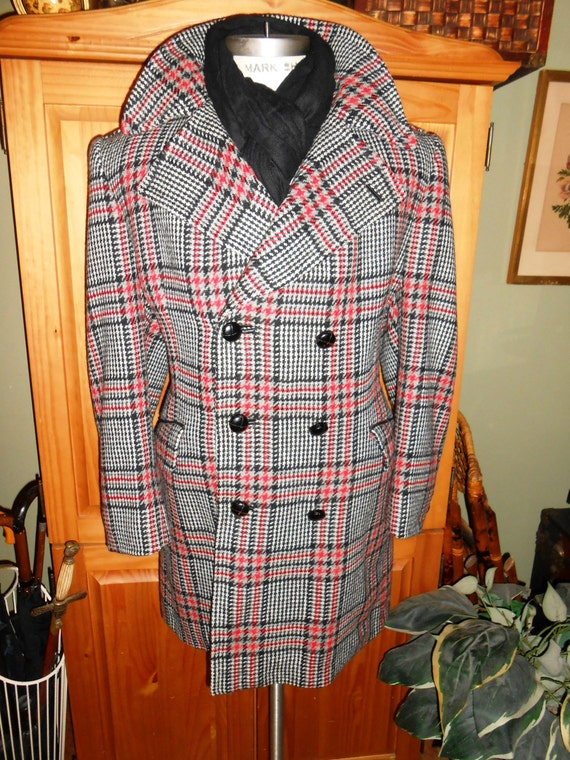 Cortefiel 44r Vintage Men S Wool Coat 1960 S Extra