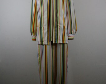 1970s Brightly Striped Pantsuit