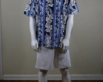 Vintage Hawaiian Shirt, Aloha Shirt, Made in Hawaii, Evergreen Island