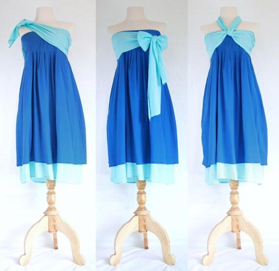 Sky Blue Sundress Women Blue