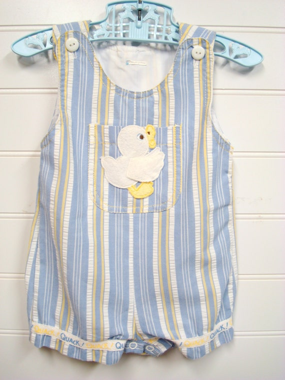 vintage baby clothes baby boy cotton romper by onceuponadaizy