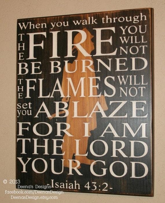 Firefighter Faith Bible Verse Signrhetsy: Fireman Home Decor At Home Improvement Advice