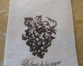 French Grapes Kitchen Towel