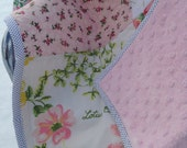 Custom Vintage Sheet Quilt Personalized Baby Quilt Blanket