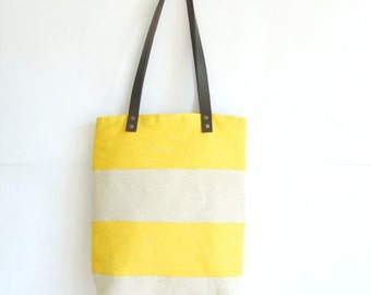 Yellow beach bag | Etsy