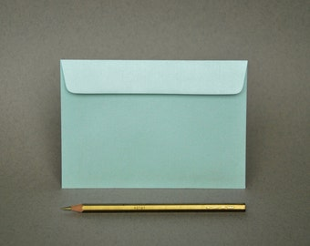 "4x6 Metallic Mint Envelopes - for A6 cards (pack of 10 or 20) - The actual size is 4 1/2""x6 3/8"""