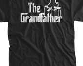 The Grandfather T-Shirt Grandpa Gift T-Shirt New Baby Gift Gifts for Dad Screen Printed T-Shirt Tee Shirt T Shirt Mens Ladies Womens