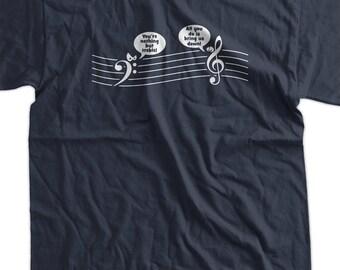 Funny T-shirt - Treble Down Music Tee Shirt T Shirt Mens Ladies Womens Youth Kids Geek