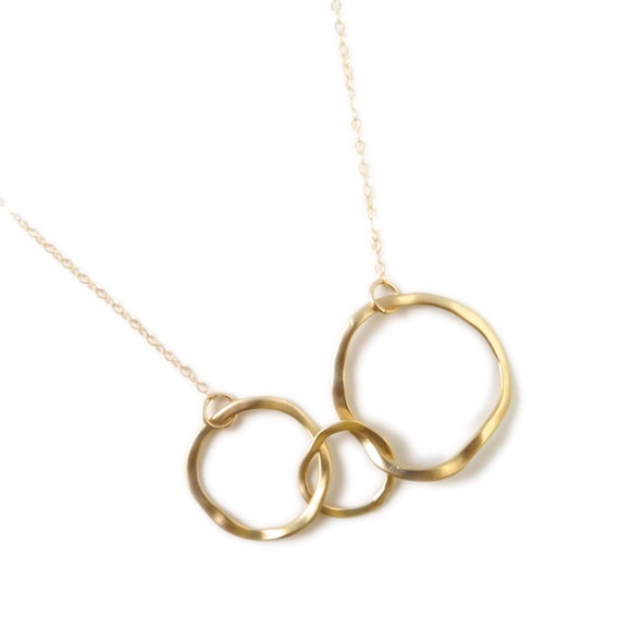 Hammered Gold Hoop Necklace, Gold Necklace, Landon Lacey, Minimalistic Necklace, Simple Delicate Necklace, Gold Necklace, Layer Necklace