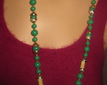1950s Miriam Haskell Asian Inspired Necklace