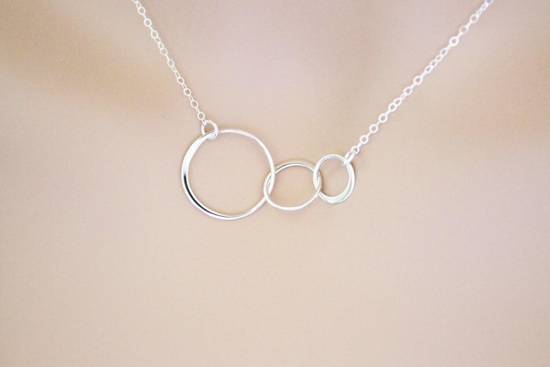 past present future necklace weddings bridesmaids