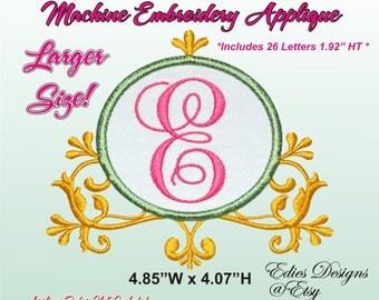 Ornate Monogram Frames Machine Embroidery Monogram Fonts Digital Download