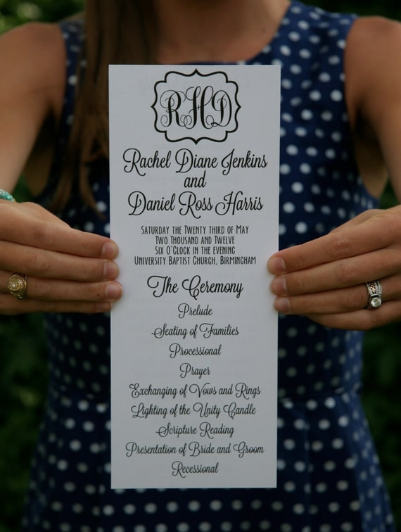 Printed Wedding Programs By PlumPrints On Etsy