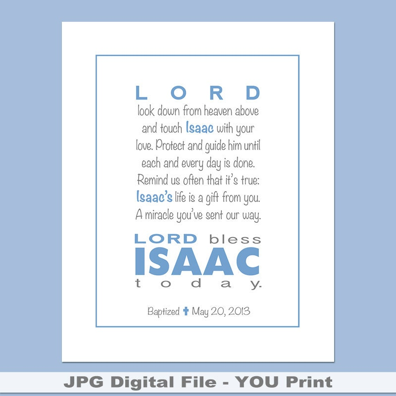 Kids personalized printable prayer wall art with childs zoom negle Gallery