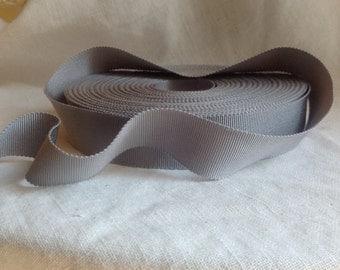 soft pewter grey washed grosgrain ribbon