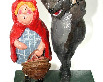 Red Ridinghood and wolf-ish pal