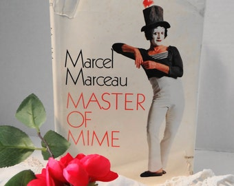 Vintage  First Print Limited Edition Marcel Marceau Master of Mime Hardcover Book Printed in England in 1978