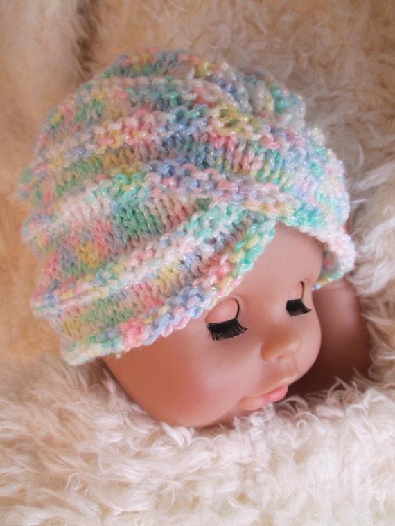 Baby girl turban Crochet Baby turban hat Crochet baby Hat knit