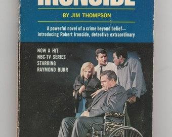 Ironside starring Raymond Burr, 1960s tv series tie in novel, vintage paperback book, spy series 1967 VPRB01119