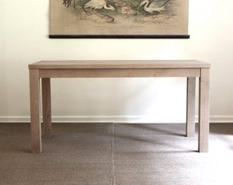 Salvaged Weathered Wood Finish Parsons Dining Table  // 27