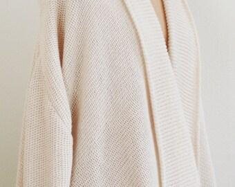 SALE - Handmade Cashmere Cardigan Wrap Sweater