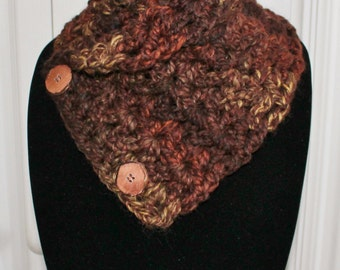 Cute Women's Teens Girls Adult Button Chunky Neck Warmer Cowl Scarflette