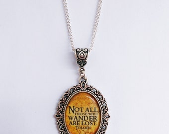 The Lord of the Rings J.R.R Tolkien Quote Necklace