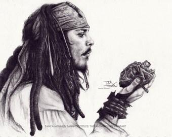 Jack Sparrow Thump Thump Print A4