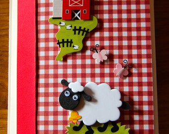 Handmade Cards, Handmade Birthday Cards, Sheep Card, Sheep Blank Card