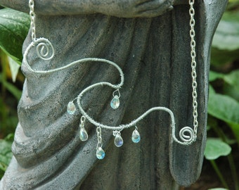 Raindrops on a Wave OOAK Necklace