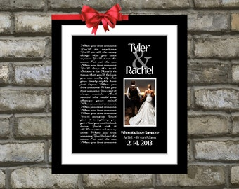 Custom Anniversary Gift Song Lyric Print ANY Personalized Wedding Song Lyrics Vows And Photo