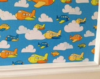 Airplane Pin Board Cork Board Bulletin Board