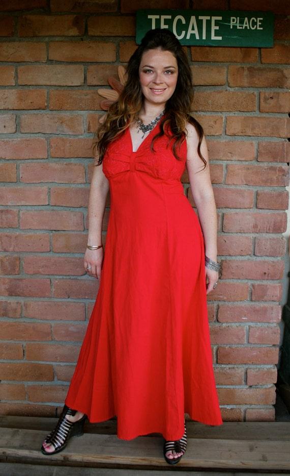 Sale mexican halter top wedding dress 100 cotton red for Mexican wedding dresses for sale