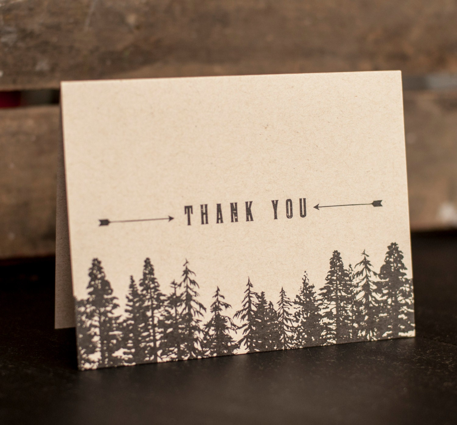 Rustic Wedding Thank You Cards Trees Forest thank you notes