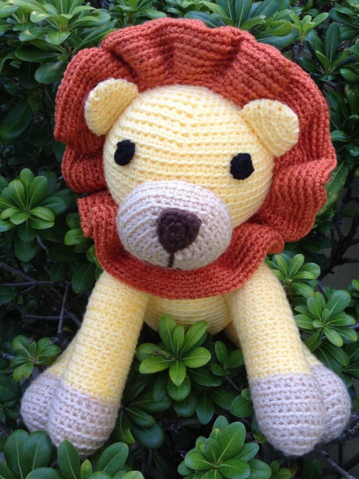 Plush Lion stuffed toy amigurumi crochet by ...