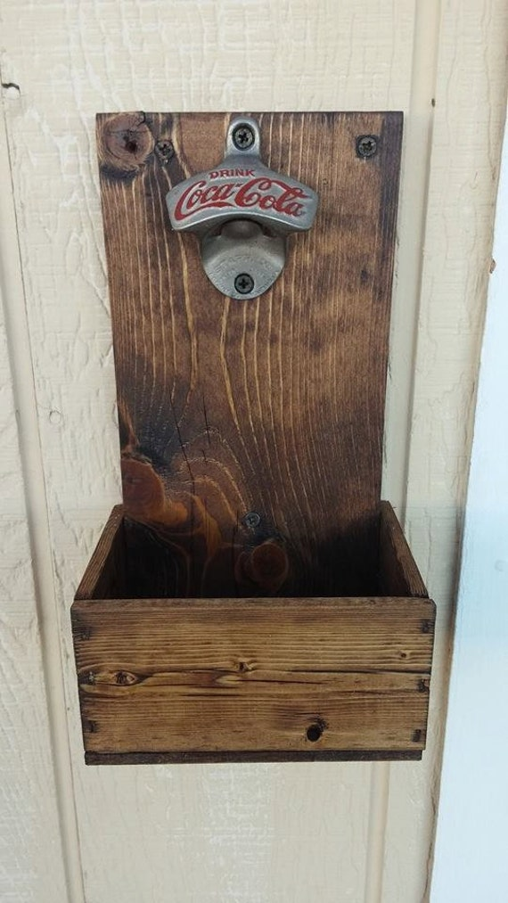 Items Similar To Custom Made Wall Mounted Bottle Opener With Cap Catcher On Etsy