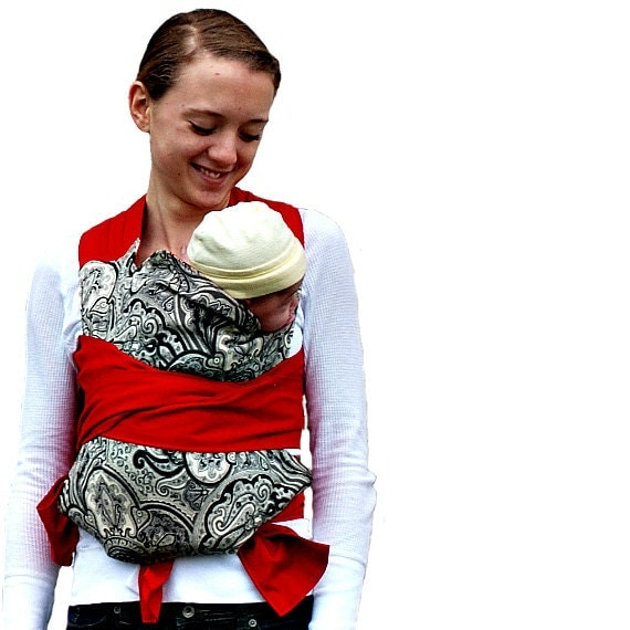 Paisley Mei Tai Carrier Black White And Red Baby By