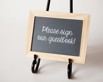 5x7 Chalkboard, Natural Wood Frame, Wedding Chalk Board, Decor, Event Signs