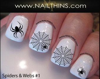 Halloween nails etsy spider web nail decal spider set no 1 halloween nail art web nail designs nailthins prinsesfo Image collections