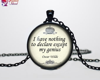 Oscar Wilde Quote Necklace  quote pendant, quote jewelry, words necklace for men for her