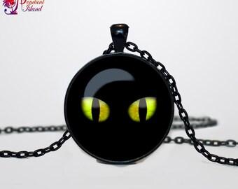 Halloween black cat necklace Halloween cat pendant  Halloween jewelry Trick or Treat Halloween Pendant Halloween  jewelry black grey