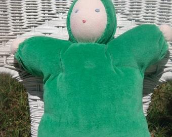 """12"""" Waldorf-inspired bunting baby, handmade"""