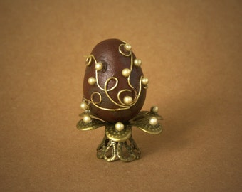 Flamboyant Easter Egg for Your Dollhouse