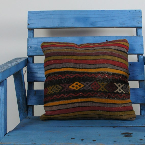Kilim Rug Throw Pillows : Kilim Rug Throw Pillow / Small