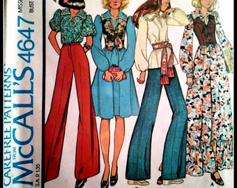 McCall's  4647  Misses' Dress Or Blouse And Vest  Size  6