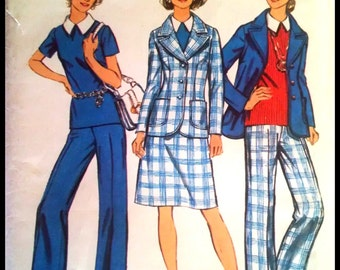 Simplicity 5567  Misses' Jacket, Top, Skirt And Pants in Half-Sizes  Size 16.5  UNCUT